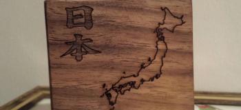 Gravação a laser em madeira